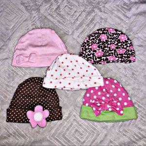 Girls Infant Beanies (all 5)